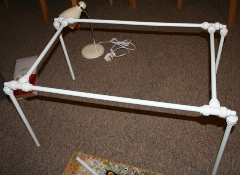 The assembled frame