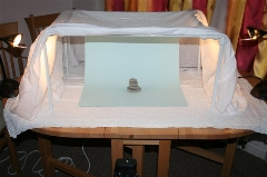 Completed light tent, in use