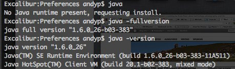 Java on Lion